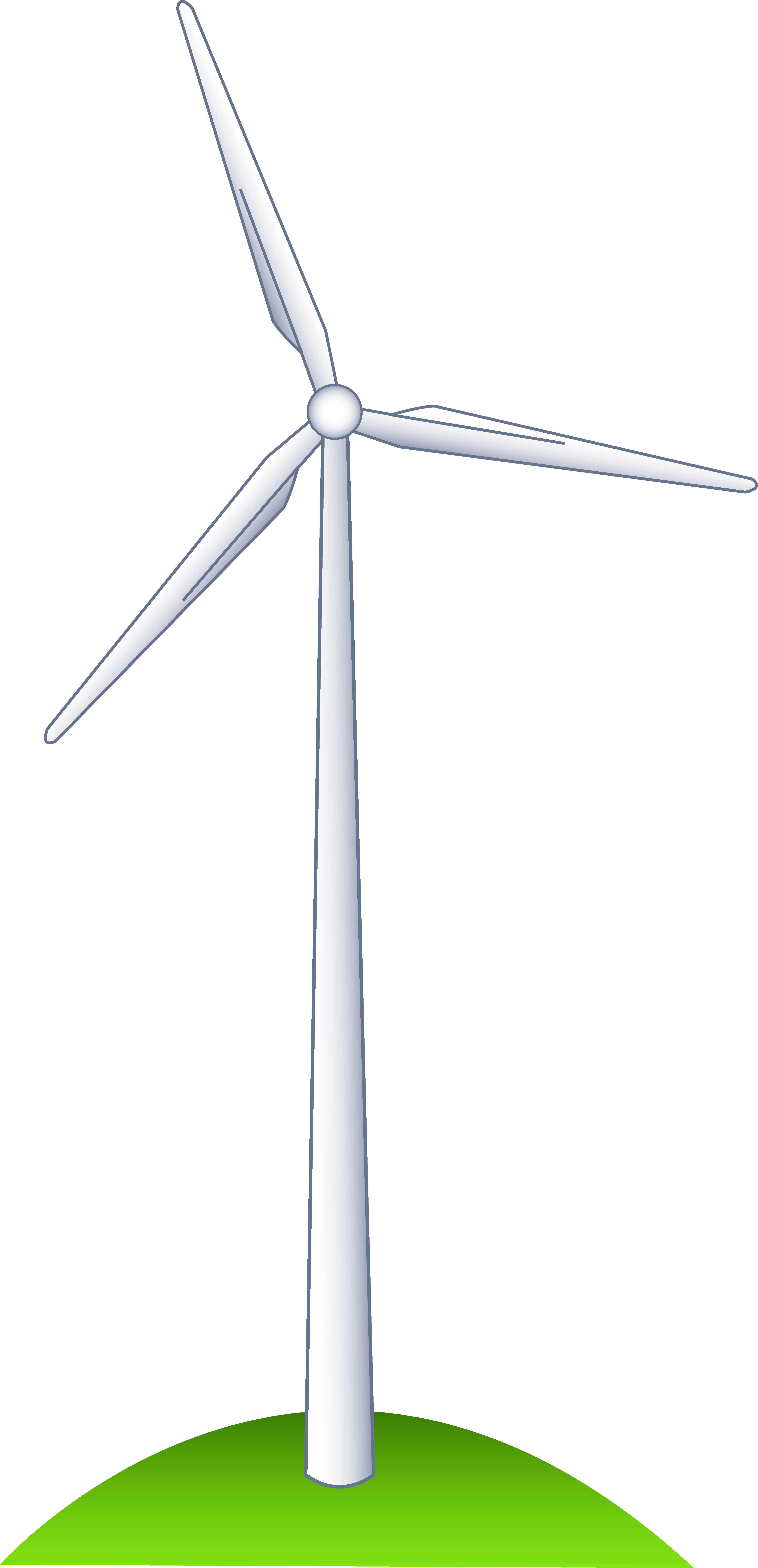 image black and white stock Wind on a hill. Turbine clipart