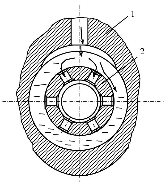 png download Turbocharger drawing. Bearing with rotating rings.