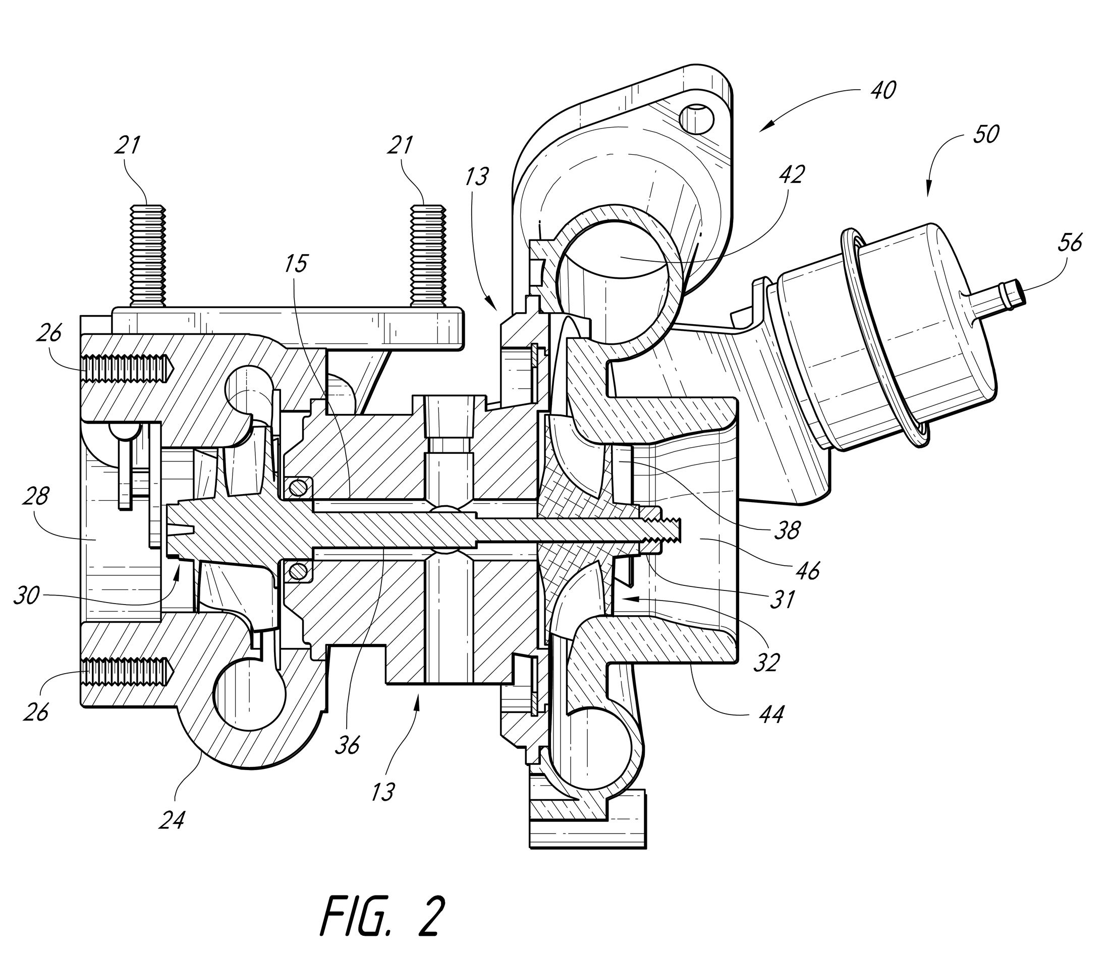 image stock Ql n ew spare. Turbocharger drawing.