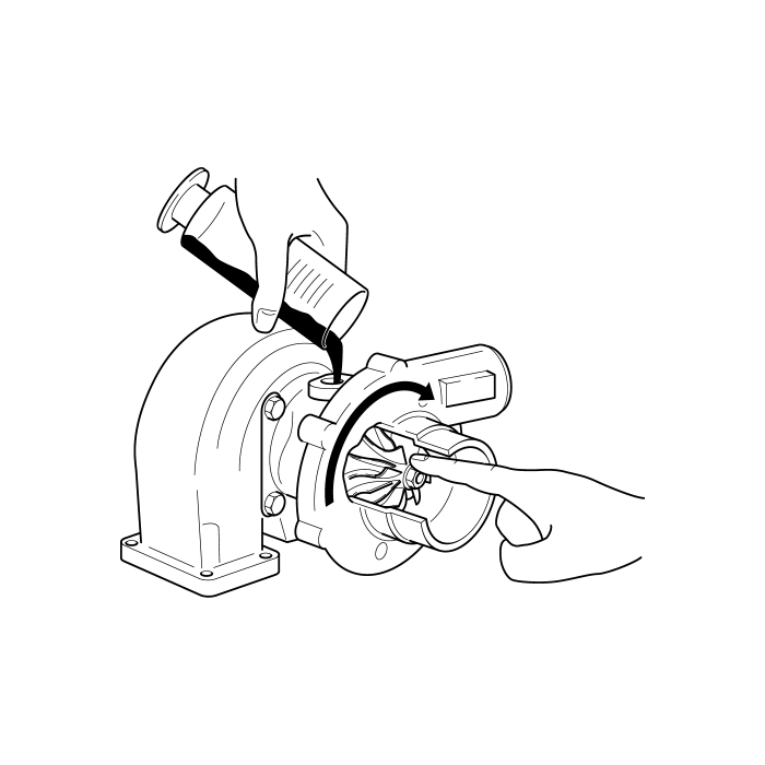 graphic library Turbocharger drawing. .
