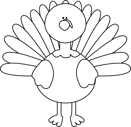 clipart royalty free stock Free Turkey In Black And White Clipart