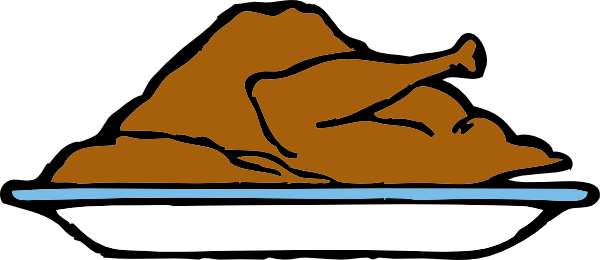 image free stock Cooked Turkey Leg Clipart