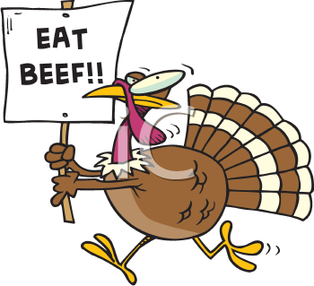 vector royalty free Turkeys clipart eating. Thanksgiving turkey with an