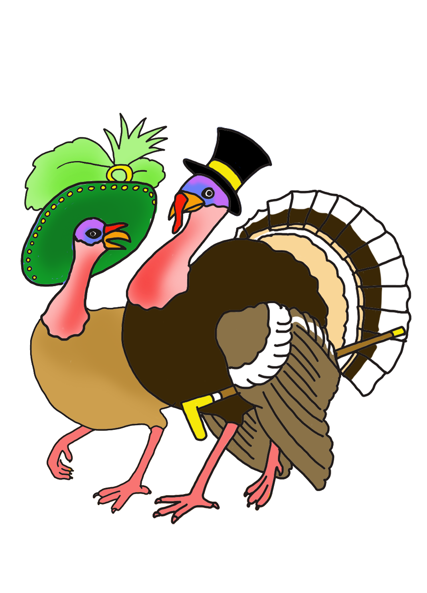 svg black and white download Turkeys clipart roast turkey. Happy thanksgiving couple parade