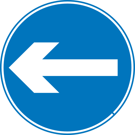 clipart library Left Turn Traffic Sign transparent PNG