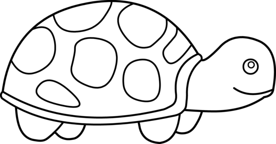 image download Sea pencil in color. Turtle black and white clipart