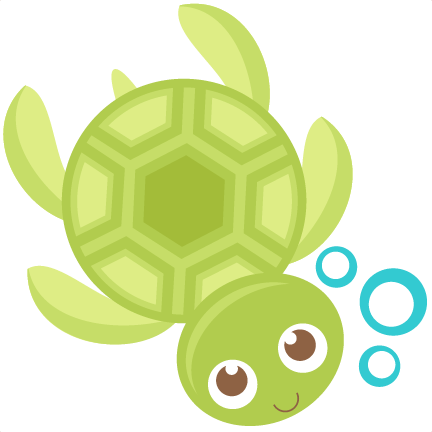 royalty free stock Svg scrapbook cut file. Baby sea turtle clipart