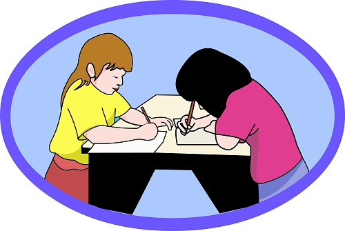png transparent library Peer editing clip art. Writer clipart partners