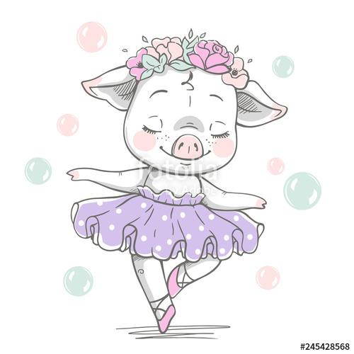 banner freeuse Illustration of a cute. Tutu vector.
