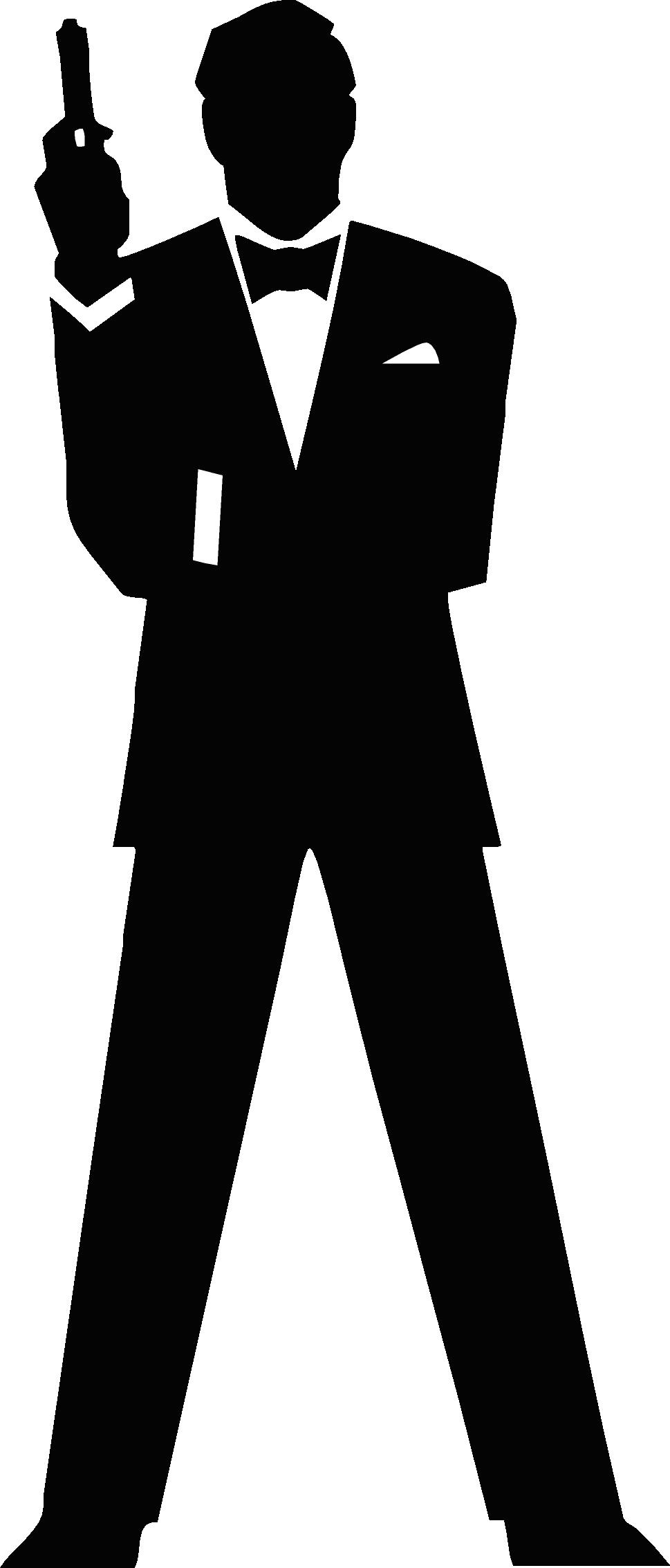 picture black and white  james bond. Secret clipart jpeg