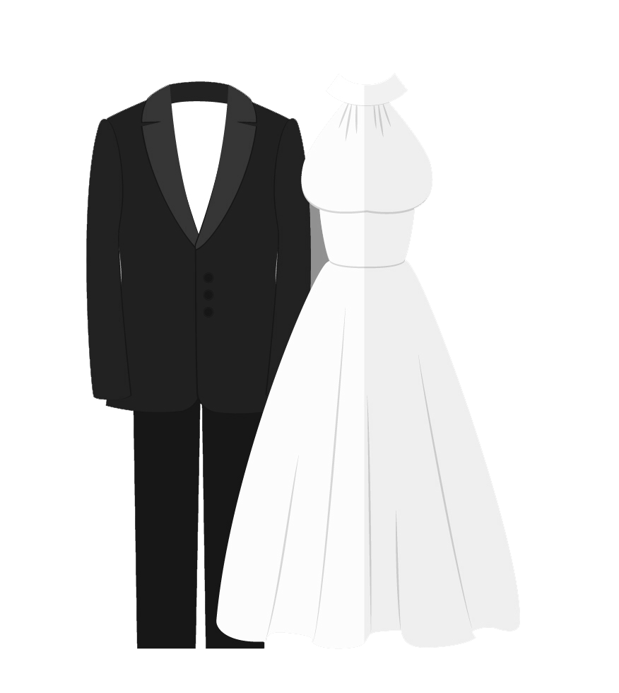 clipart transparent Dress and tux png. Vector costume wedding tuxedo