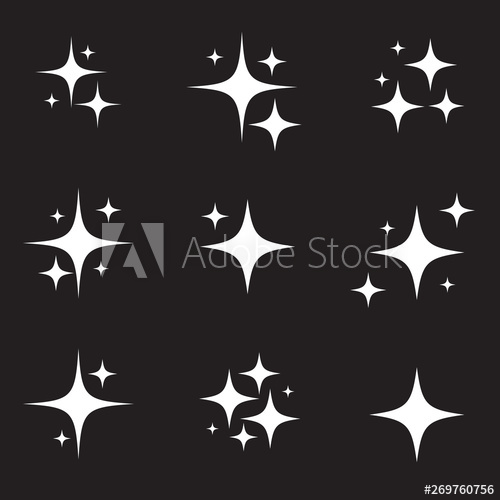 banner freeuse download Twinkle vector. Set of original stars