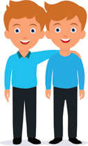 vector royalty free download Search results for clip. Twins clipart