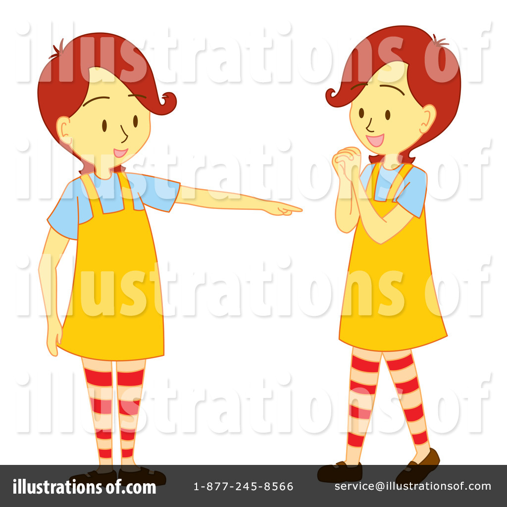 png royalty free library Illustration by cherie reve. Twins clipart
