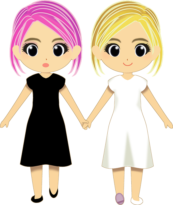 svg library library Many girl free on. Twins clipart