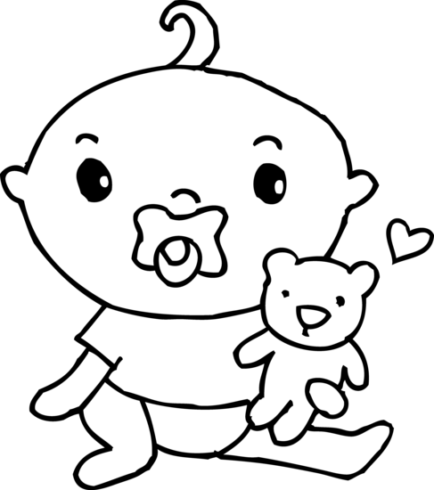 clip black and white download Exclusive Ideas Baby Clipart Black And White Cute Boy Coloring Page