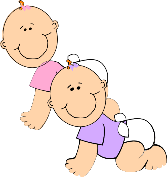 jpg free download Twins clipart clip art. Twin girls at clker