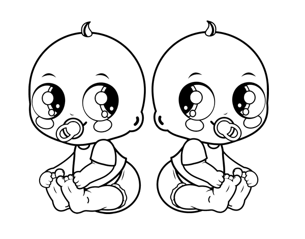 free library Twins clipart guy. Twin drawing at getdrawings.