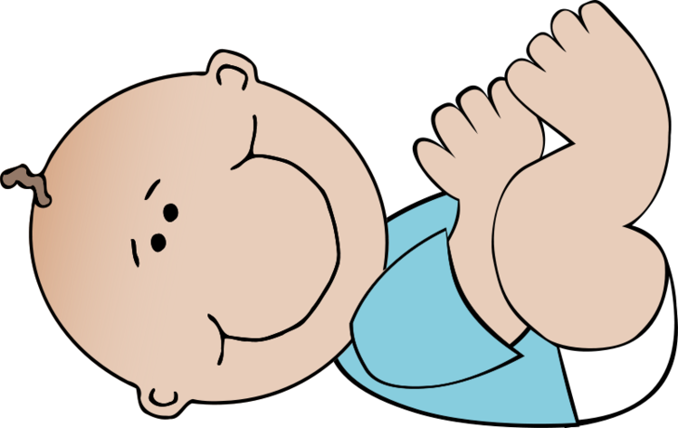 jpg black and white Free baby boy lying. Twins clipart guy.