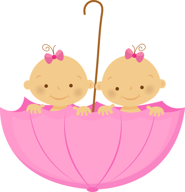 clip art freeuse twins clipart triplet girl #85237316