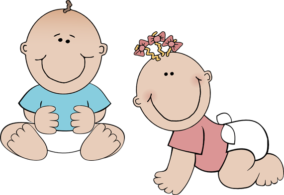 black and white clipart twins babies #57055236