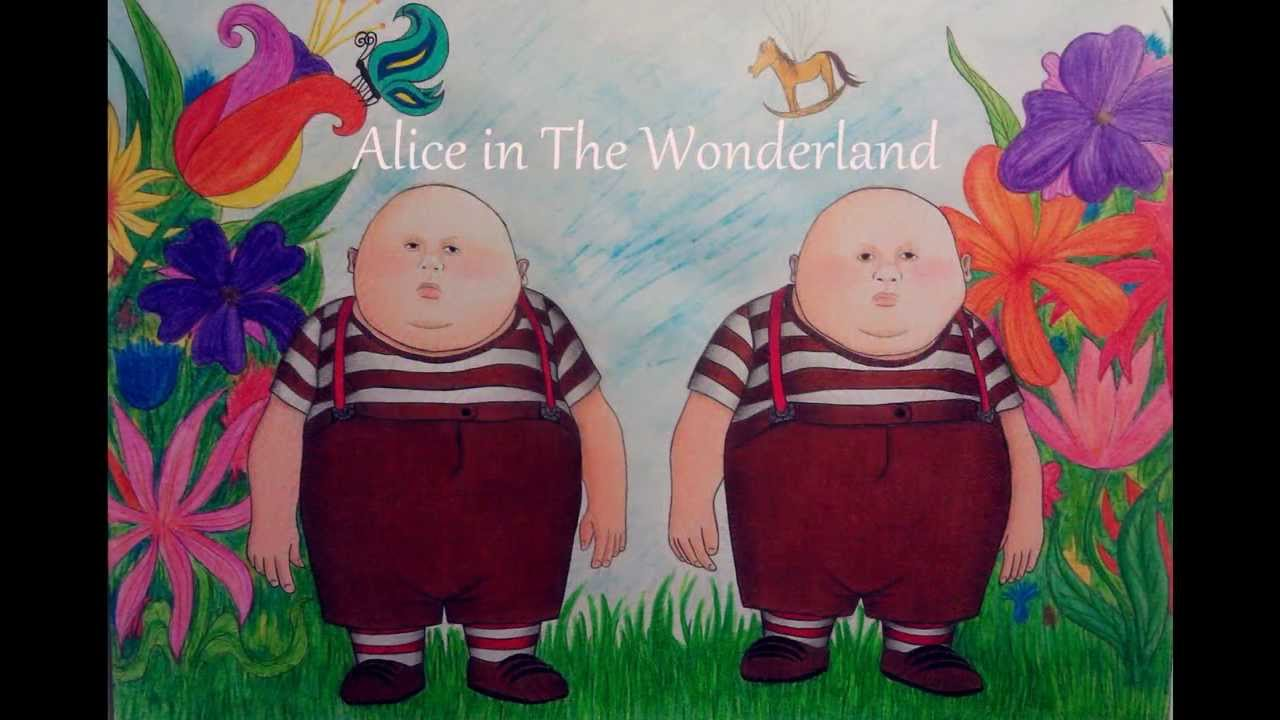 vector royalty free stock The disney . Twins drawing alice in wonderland