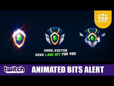 svg royalty free stock Twitch vector animated. Bits alrets for streamer