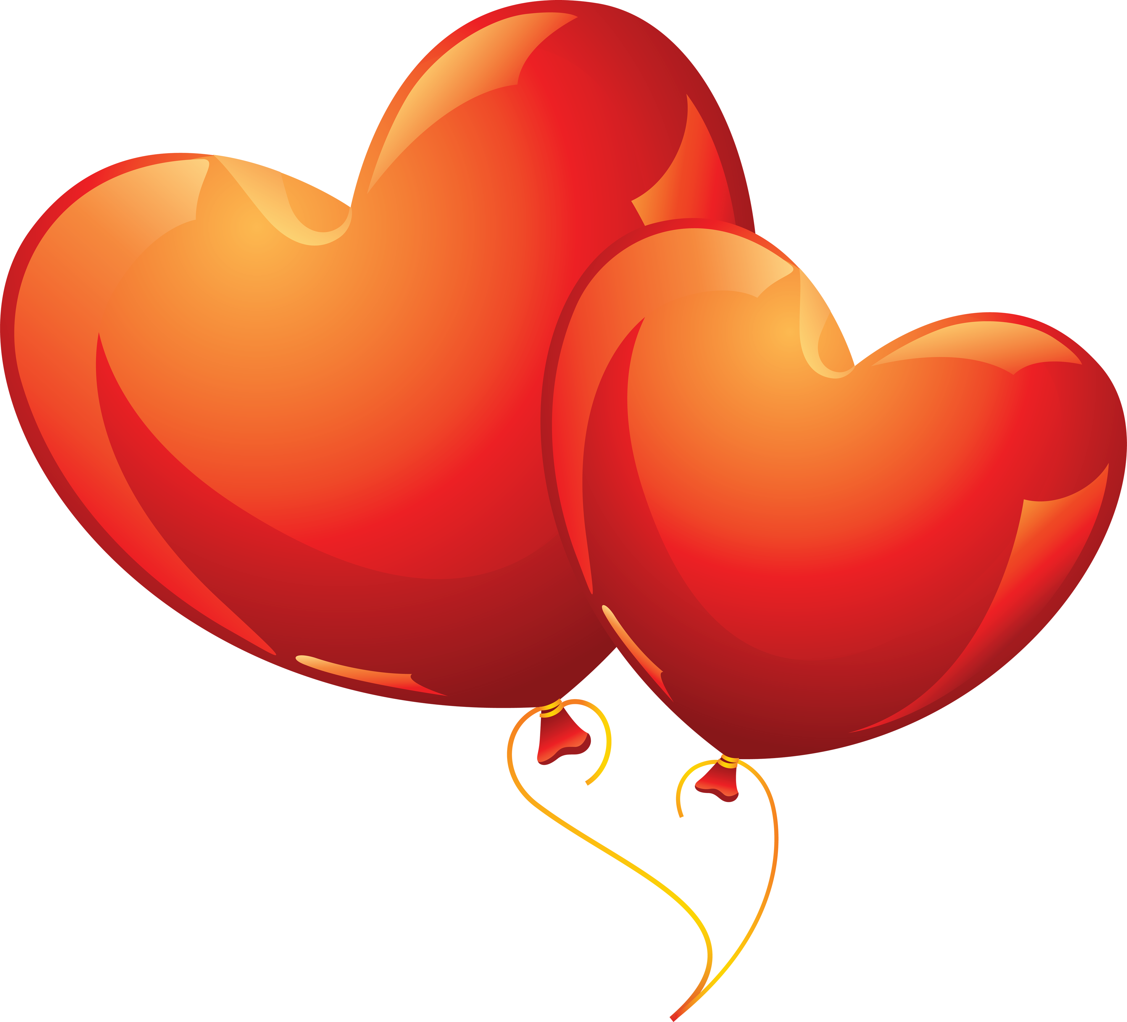 graphic freeuse Two Balloons in the Shape of Love Heart