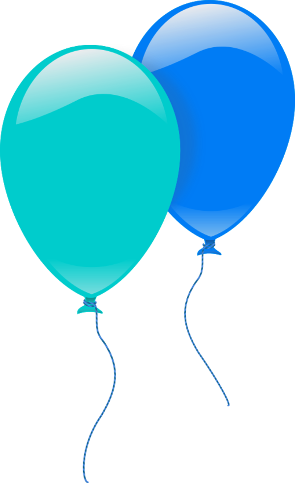 jpg library library Two Balloons Clipart