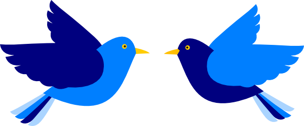 svg freeuse download Two Bird Clipart