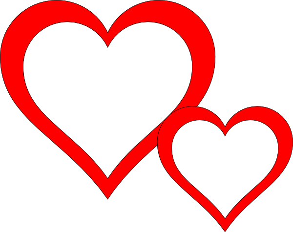 picture download Two Hearts Clipart Black And White