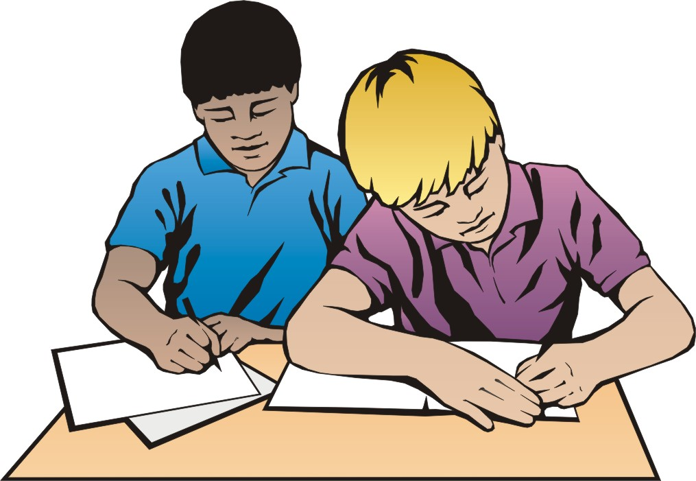 vector free stock Two students working clipart. Student studying gclipart com