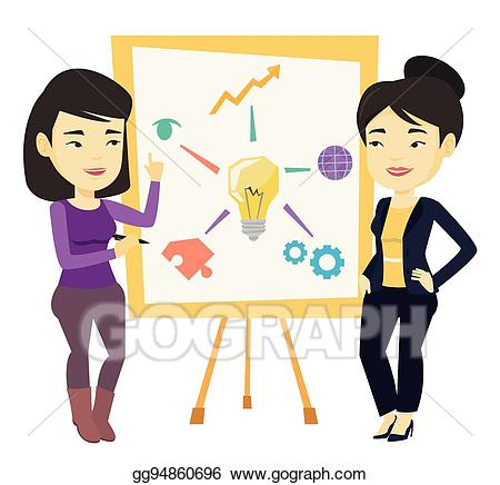 svg black and white download Two students working together clipart. Vector discussing project near