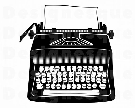 freeuse library Svg files for cricut. Typewriter clipart