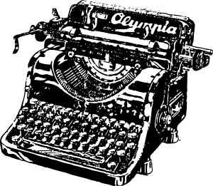 vector free download Typewriter Clip Art at Clker