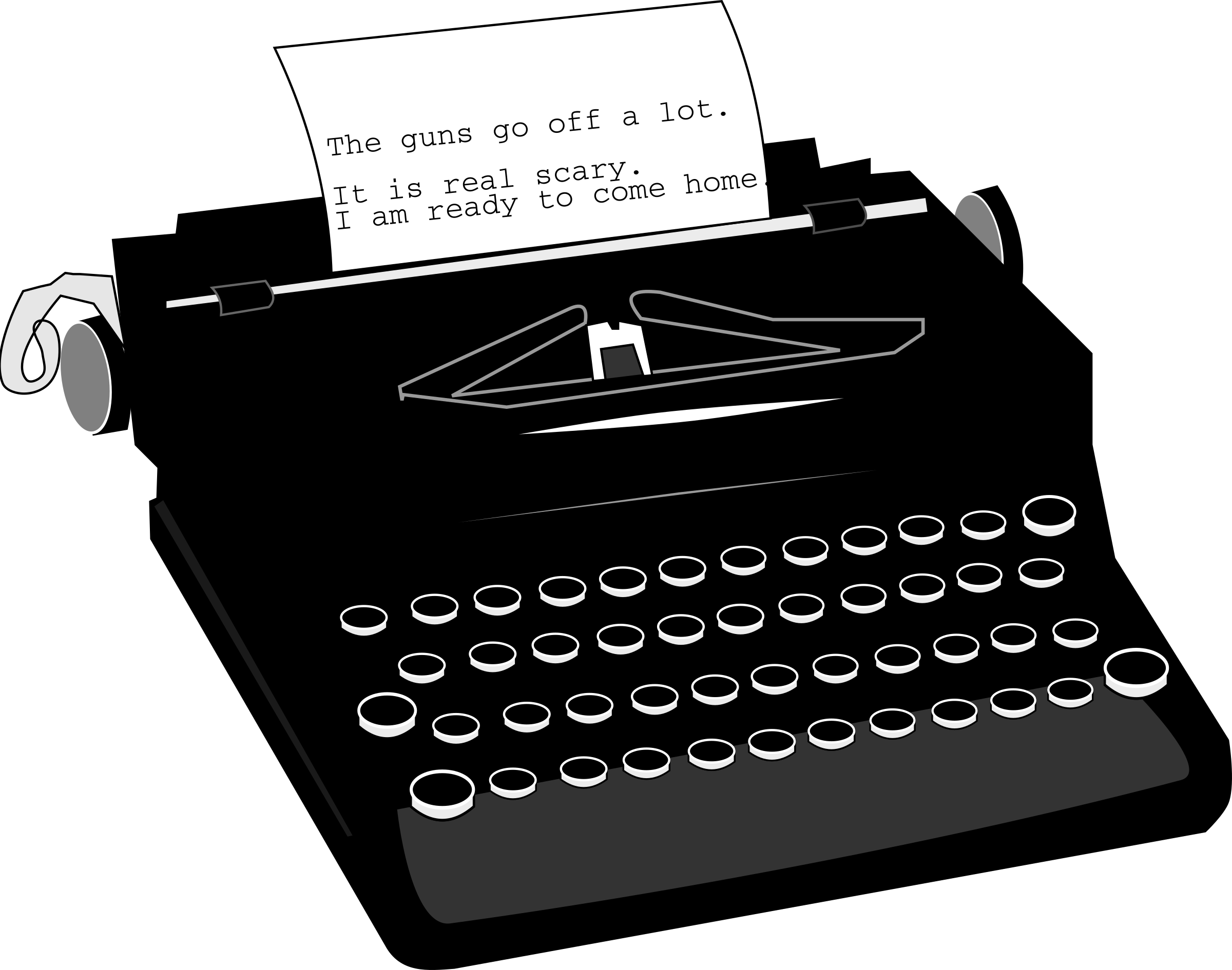 vector library Typewriter vector silhouette. Clipart