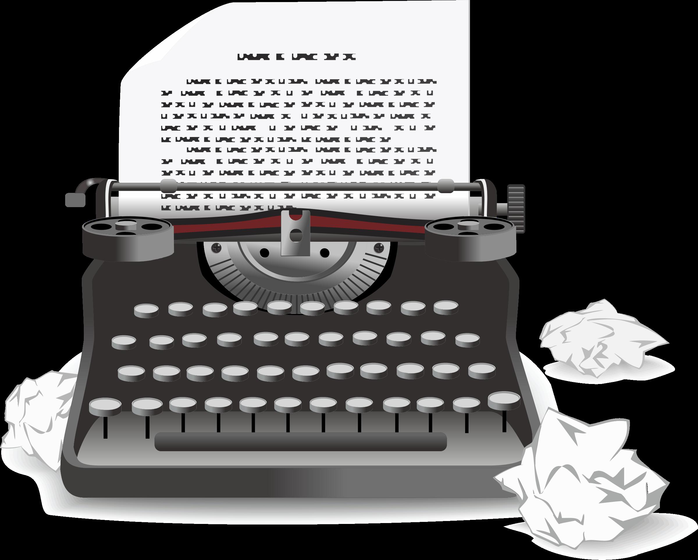 jpg freeuse download Typewriter clipart.