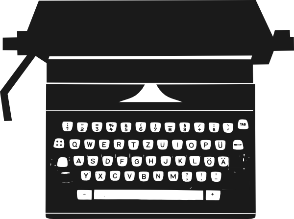 jpg black and white download Typewriter vector clipart. Clip art at clker