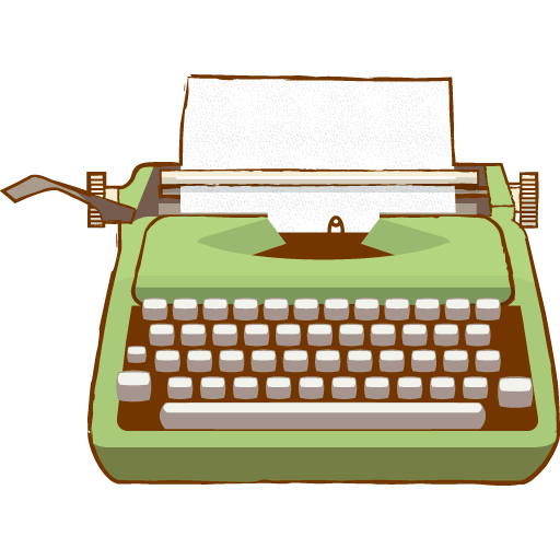 vector free Typewriter clipart black and white. Vintage green png photos