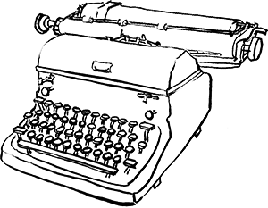 graphic royalty free library Drawing at getdrawings com. Typewriter vector drawn