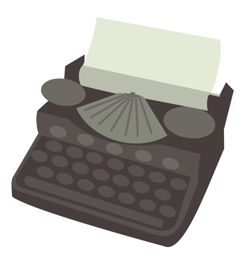 banner royalty free Typewriter vector cartoon. Cutie mark request by