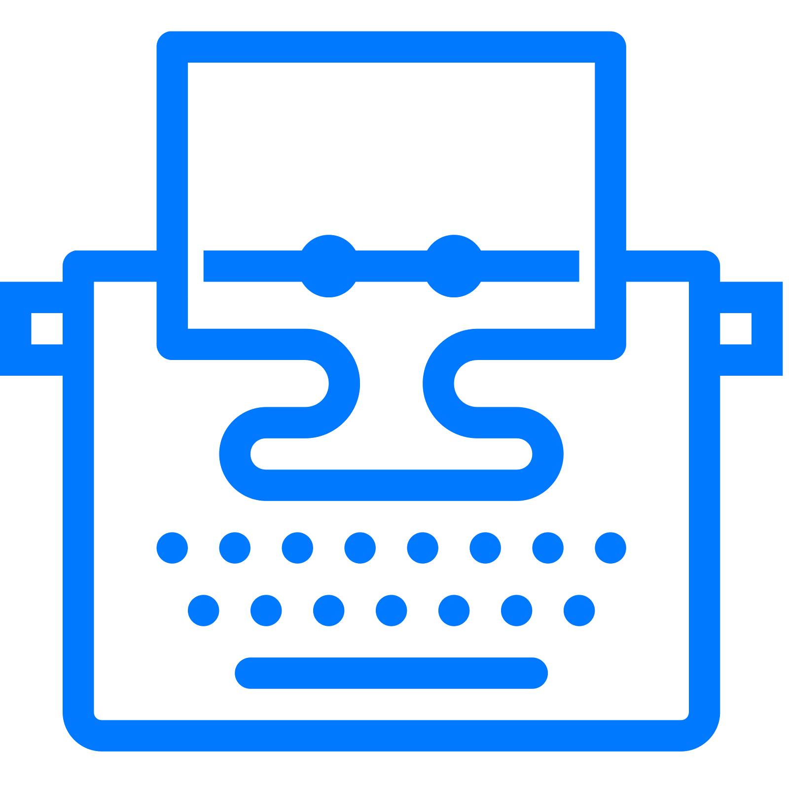 png free stock With paper icon free. Typewriter vector doodle