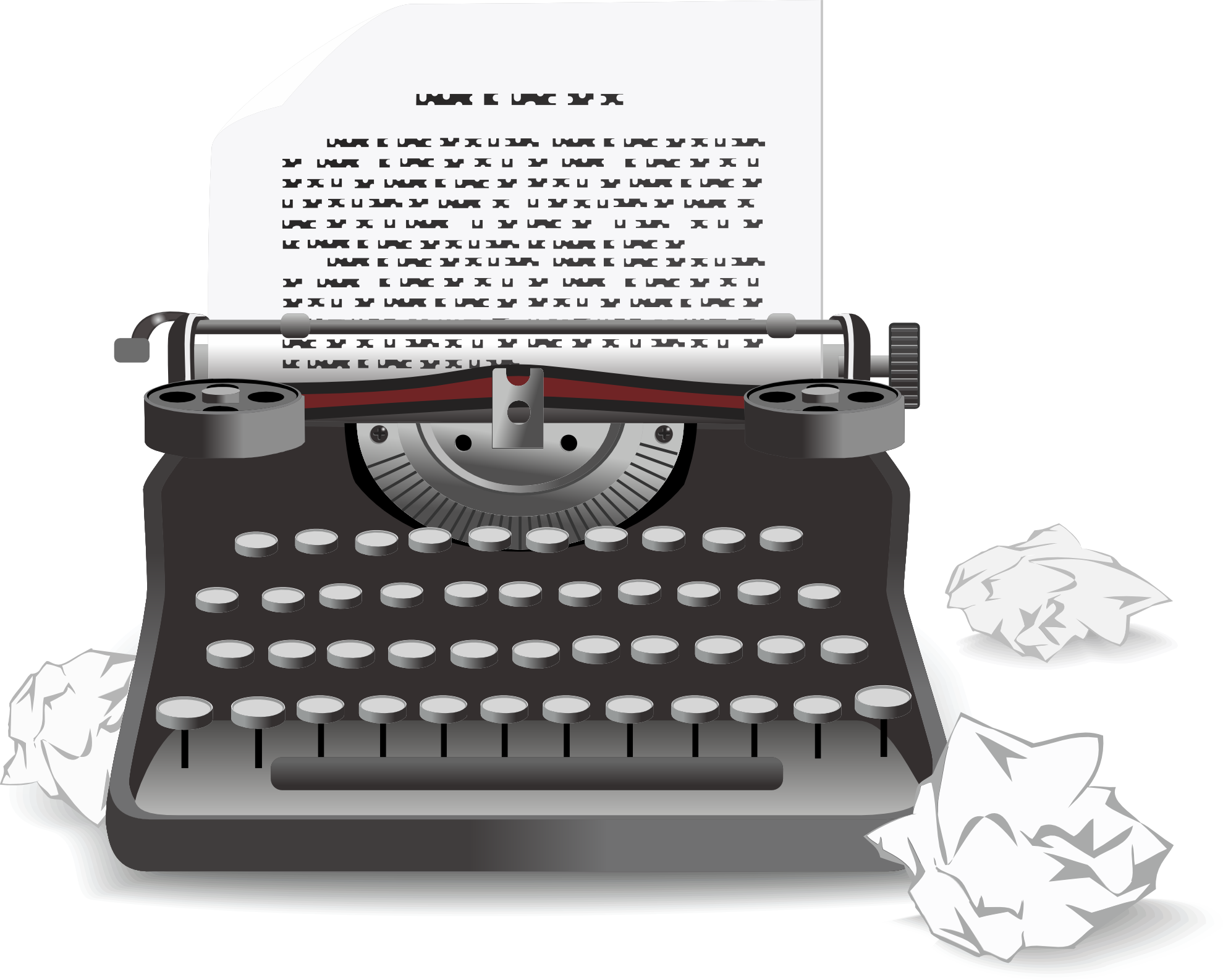 svg transparent stock Collection of free drawing. Typewriter vector doodle