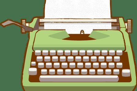 jpg download Typewriter vector drawn. Vintage with paper illustration