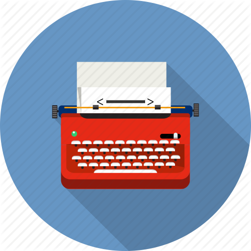 clipart transparent library Typewriter vector keyboard. Mixt icoflat by gheata