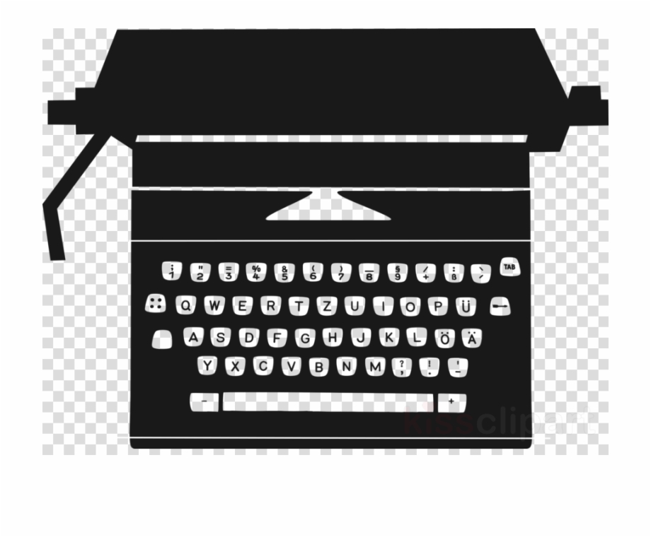 clipart black and white library Typewriter vector paper clip art. Drawing text transparent png