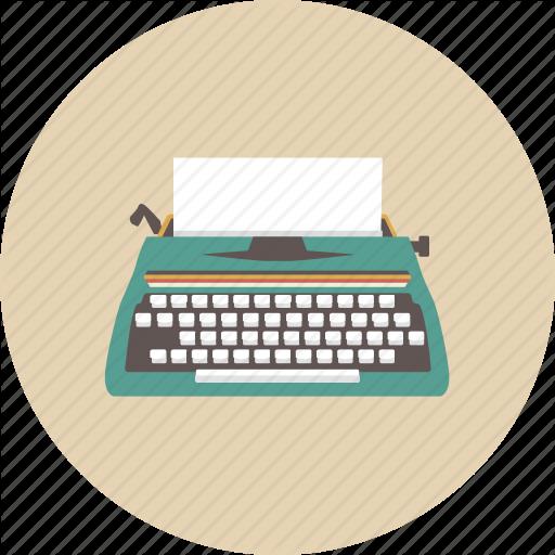 clip art transparent Typewriter vector paper illustration. Retro gadget by zirsolostudio