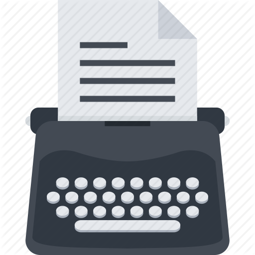 svg royalty free stock Seo flat by last. Typewriter vector paper illustration