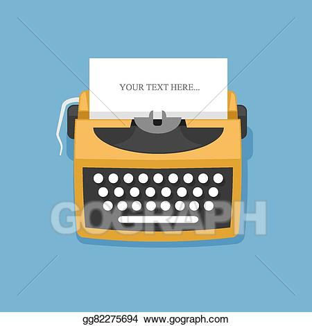 clip free stock Typewriter vector vintage style. Eps retro stock clipart