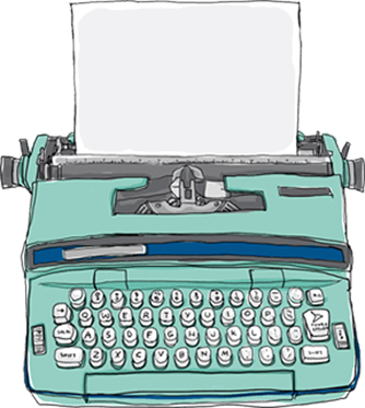 graphic library Typewriter vector vintage style. Offers an in depth